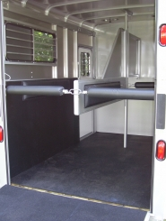 Ju-Lite 710A-DR Optional with 4ft. Dresser Rear View of Stalls